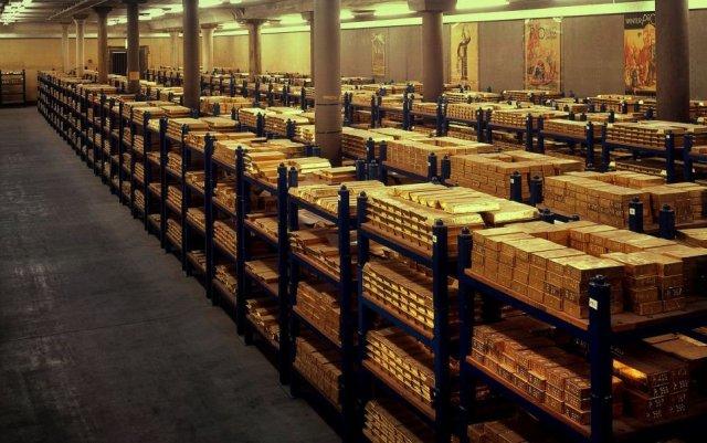 χρυσός στην τράπεζα της Αγγλίας