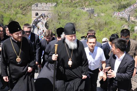 Патриарх Кирилл посетил Великую Китайскую стену
