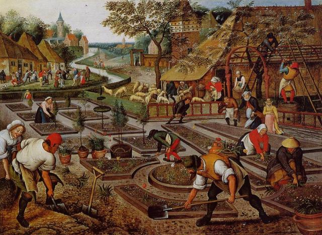 Pieter-Bruegel-The-Younger-Preparation-of-the-Flower-Beds